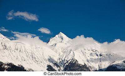 vista, di, il, montagne