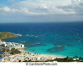 vista, di, oceano, su, uno, isola tropicale