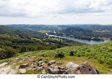 vista elevata, distretto lago, regno unito