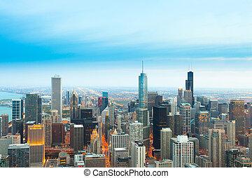 vista, elevato, chicago