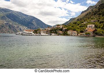 vista, en, bahía, de, kotor, -, montenegro