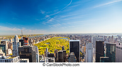 vista, en, parque central, nueva york