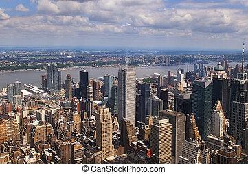 vista, encima, manhattan, nueva york