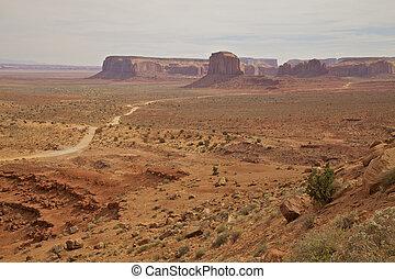 vista escénica, valle, monumento