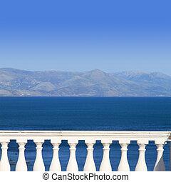vista, mar mediterrâneo, sacada