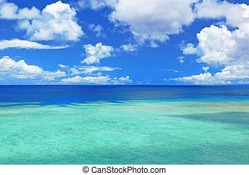 vista marina, en, okinawa, japón