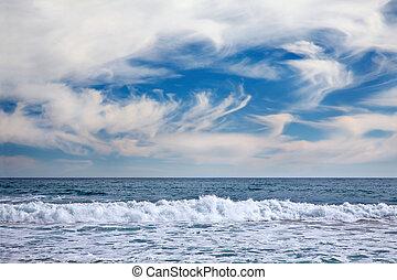 vista marina, en, vina, mar. de supr, chile