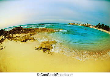 vista marina, fisheye, vista., isla mujeres, méxico