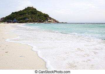Vista marina, meridional,  nangyuan, isla, Tailandia