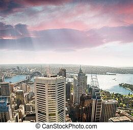 vista marina, rascacielos, sydney