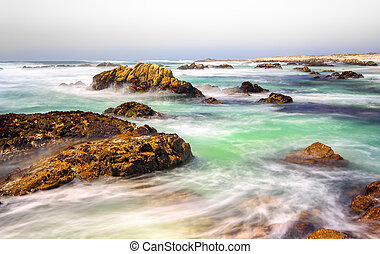 vista marina, vista, océano pacífico