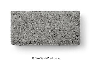 vista, mattone, concreto, cima, sabbia