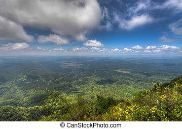 vista, mpumalanga, áfrica, sul, maravilha