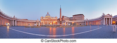 vista panorámica, rome., ciudad, vaticano
