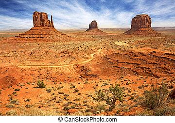 vista panoramica, valle, stati uniti, monumento
