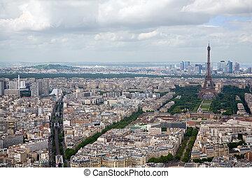 vista, parigi, elevato, francia