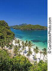 vista, ponto, ang, thong, ilhas, parque nacional