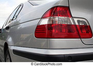 vista posteriore, di, uno, automobile
