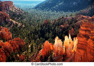 vista scenica, di, canyon bryce, meridionale, utah, stati...