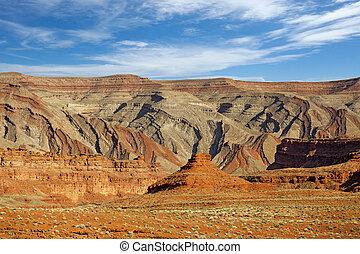 vista scenica, di, montagne rocciose, in, stati uniti