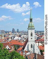 vista, slovakia., aéreo, bratislava