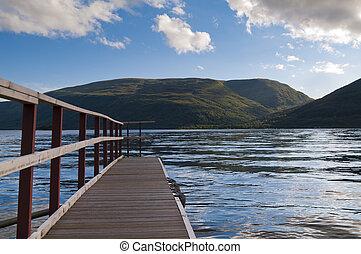 vista, sopra, uno, lago