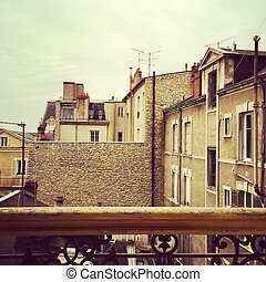 vista, sopra, uno, vicinato, in, parigi
