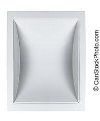 vista superior, de, cerâmico, pia banheiro, isolado, branco, fundo