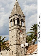 vista, torre, trogir, -, campana