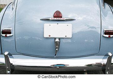 vista trasera, de, coche antiguo