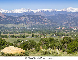 Boulder Colorado - Vista view of Boulder Colorado and the...