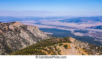 Vista View of Jackson Hole Wyoming