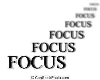 vistaas in, fokusera
