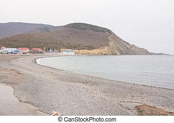 vistas panorámicas, de, el, mar, bahía, en, el, aldea, de, sukko, primavera