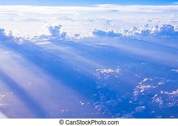 visto, cielo, nuvola, formazioni