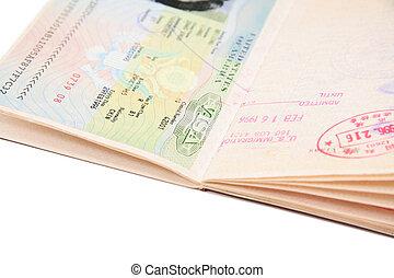 visto, passaporte, nós