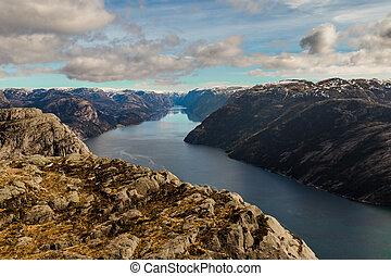 visto, preikestolen, lysefjorden, stavanger, noruega