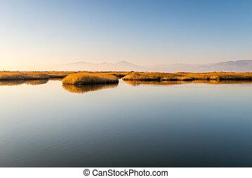 Vistonida lake from Lagos in Greece