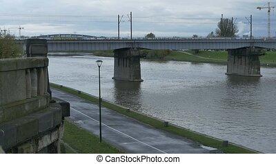 Vistula River in Krakow - Vistula river in Krakow, Poland,...