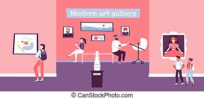 Visual Art Background - Visual art background with modern ...