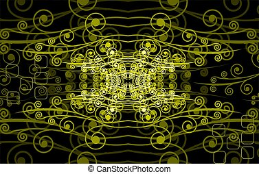 Visual art - Illustration of visual art in colour background