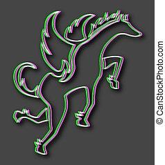 Visual effect pegasus - Creative design of Visual effect...