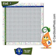 Find the wrong letter A - Visual Game for children. Game...