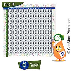 Find the wrong letter D - Visual Game for children. Game...