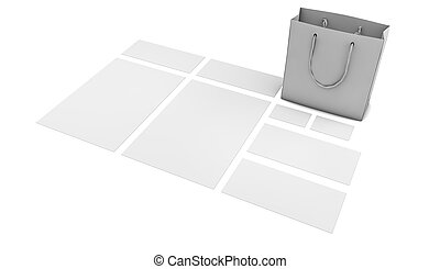 visual identity template 1 - render of a visual identity...