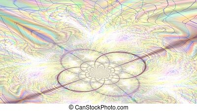 Visual illusions, moving waves. Psychedelic abstraction for hypnosis