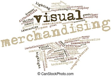 Visual merchandising - Abstract word cloud for Visual...