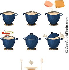 Visual Phased Cooking Instruction