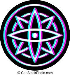 visuale, figura, cerchio