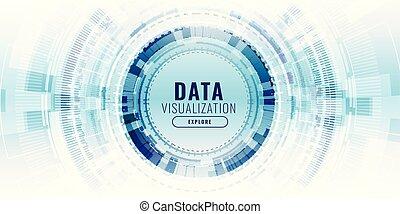 visualisation, concept, technologie, données, bannière, futuriste